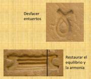 Símbolos pertenecientes al Templo de Horus en Edfu
